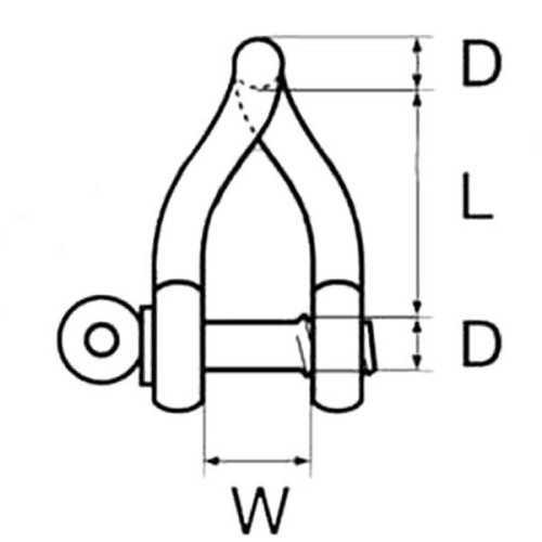 Grillo torto inox AISI 316
