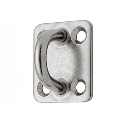 Ponticello su piastra in acciaio Inox con 4 fori