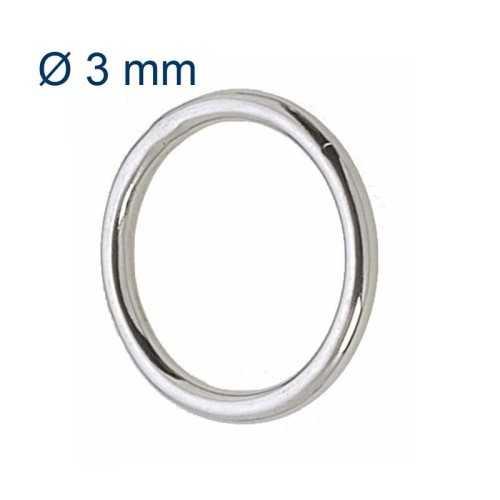 Anello tondo Ø 3 mm in acciaio Inox