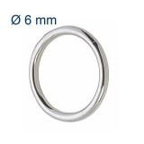 Anello tondo Ø 6 mm in acciaio Inox