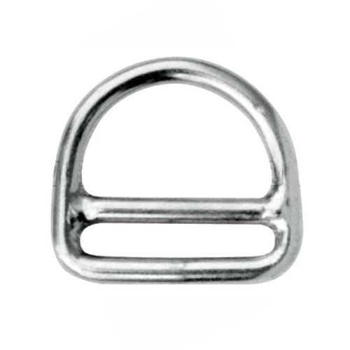 Anello a D in acciaio Inox con barra
