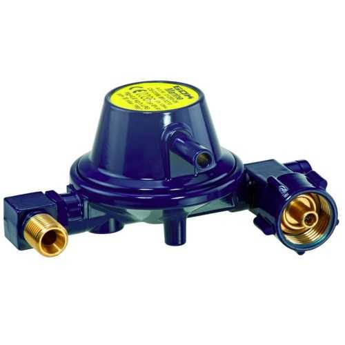 "2) Regolatore gas 30 mbar a ""U"" 0,8 kg/h omologato marino - Gok"