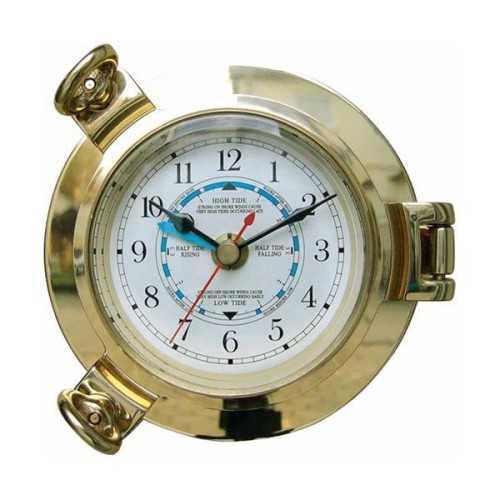 Orologio con indicatore delle maree in ottone