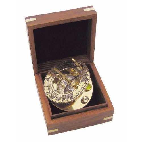 Bussola e meridiana Ø 8 cm con scatola