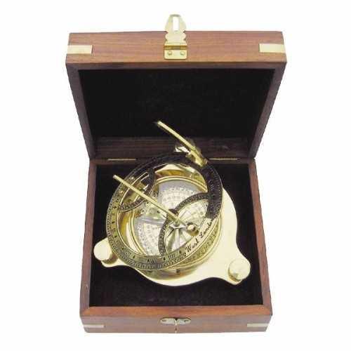 Bussola e meridiana Ø 11 cm con scatola