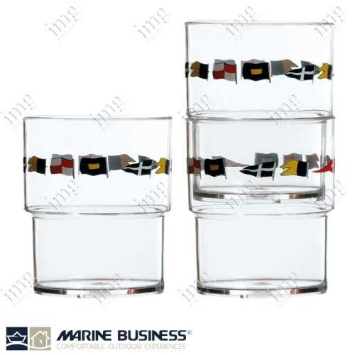 Bicchieri impilabili infrangibili Regata Marine Business