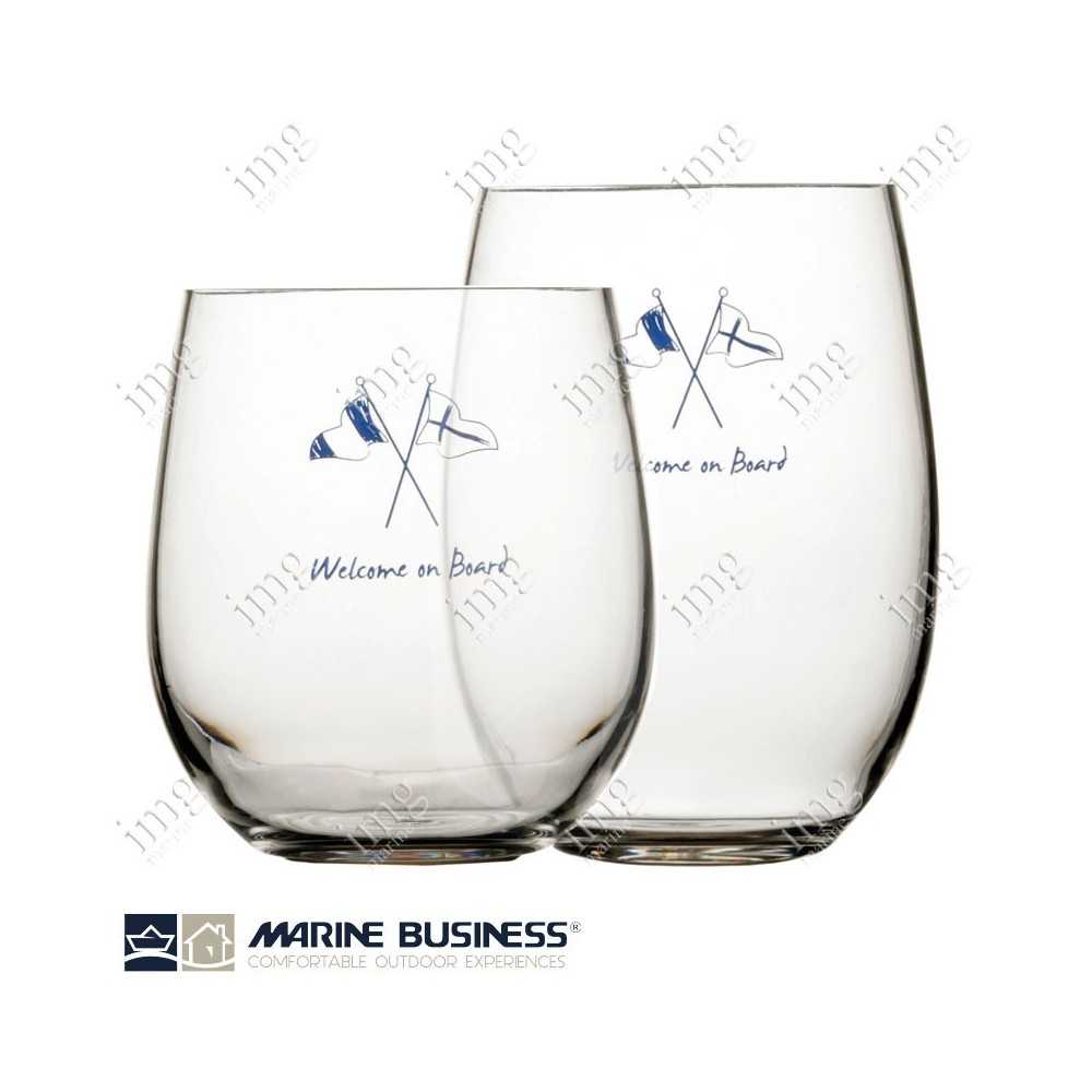 Bicchieri infrangibili Welcome on Board Marine Business