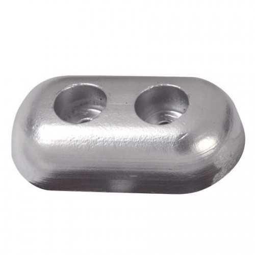 Anodo a piastra ovale in zinco per carena