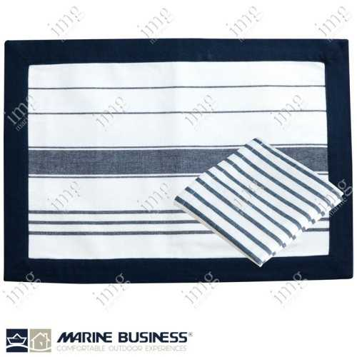 Tovagliette americane antimacchia Blue Navy Marine Business