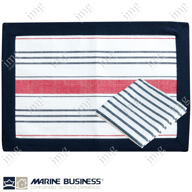 Tovagliette americane antimacchia Red Marine Business