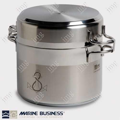 Batteria da cucina inox 11 pezzi Marine Business