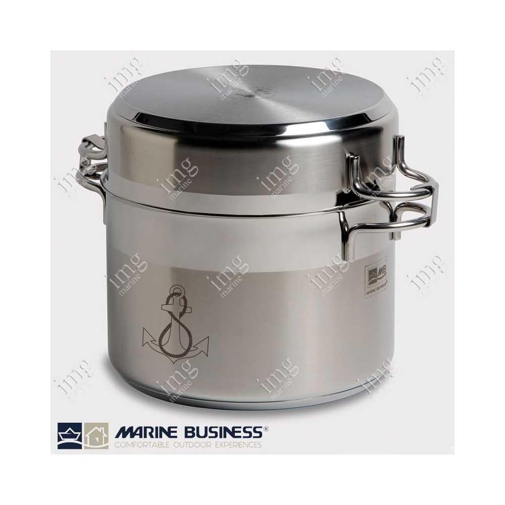 Batteria pentole impilabili 11 pezzi acciaio inox marine - Batteria da cucina lagostina prezzi ...