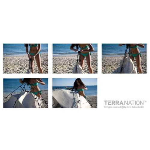 Tenda da spiaggia REKAKOHU Plus Blue Terra Nation
